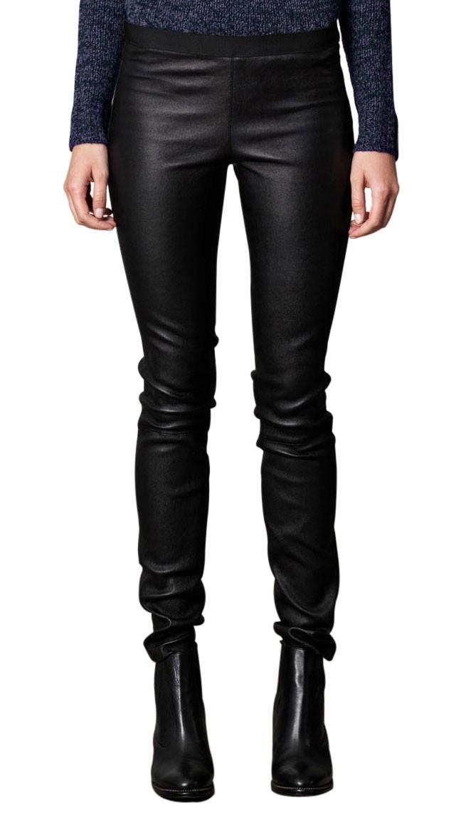 Elegant Buy Stylish Skinny Fit Genuine Leather Pants For Women Online