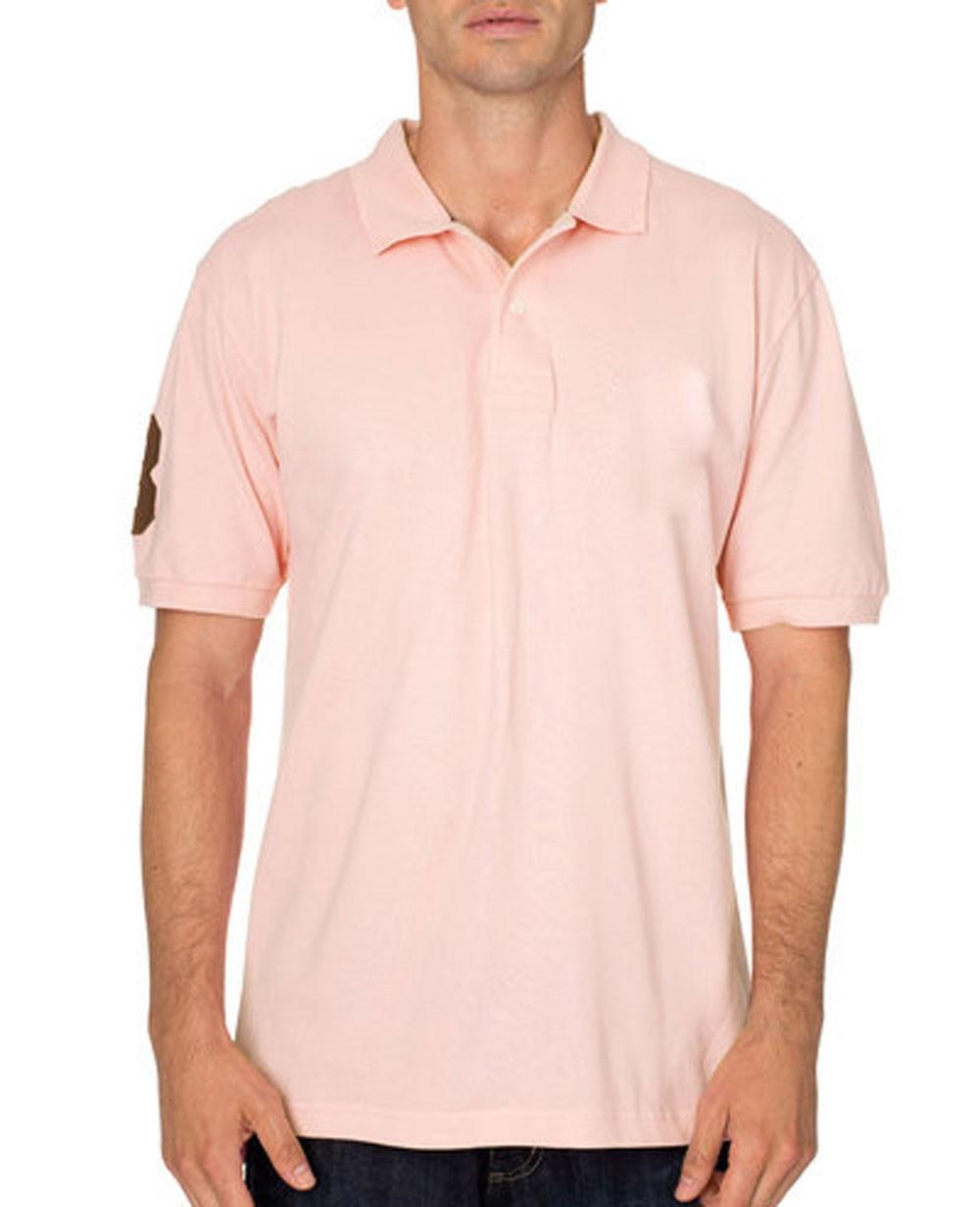 Big and tall polo shirt pink for Big size polo shirts