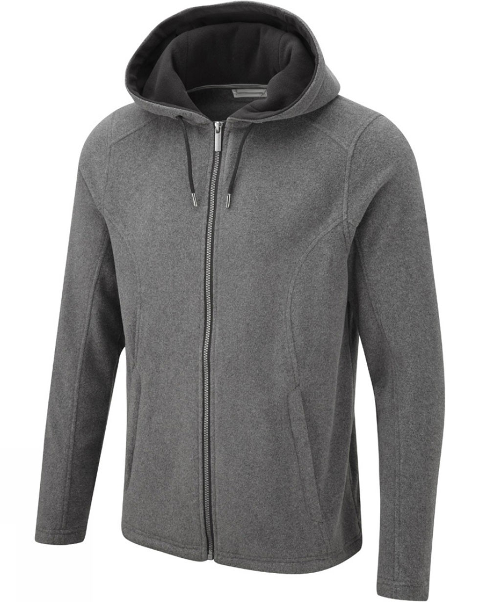 Mens Zip Up Fleece Jacket In Grey