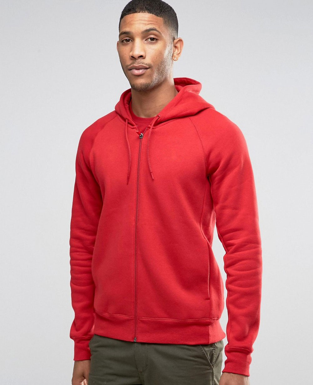 Stylish Pullover Hoodie In Red