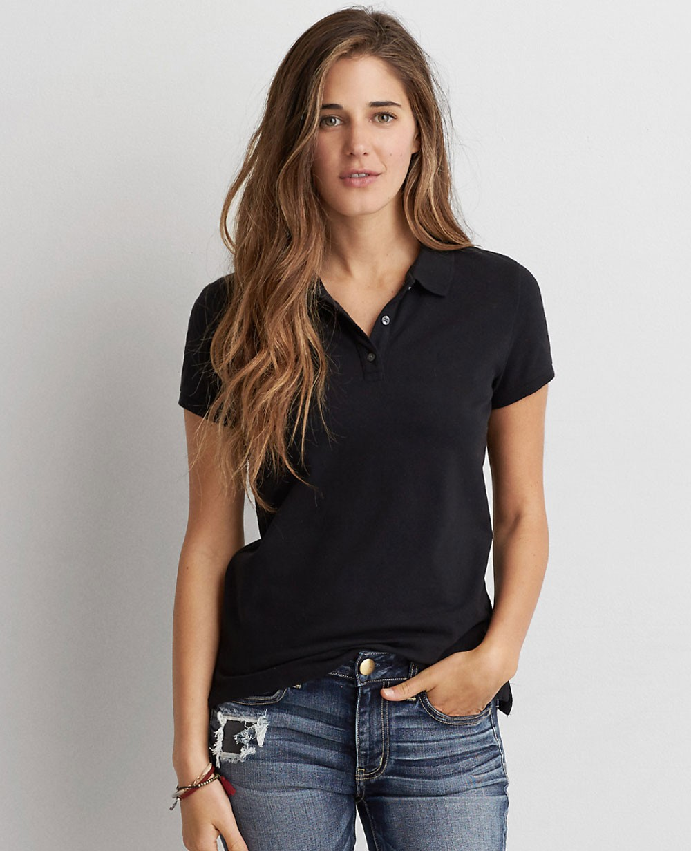 Women Controst Stylish Polo Shirt