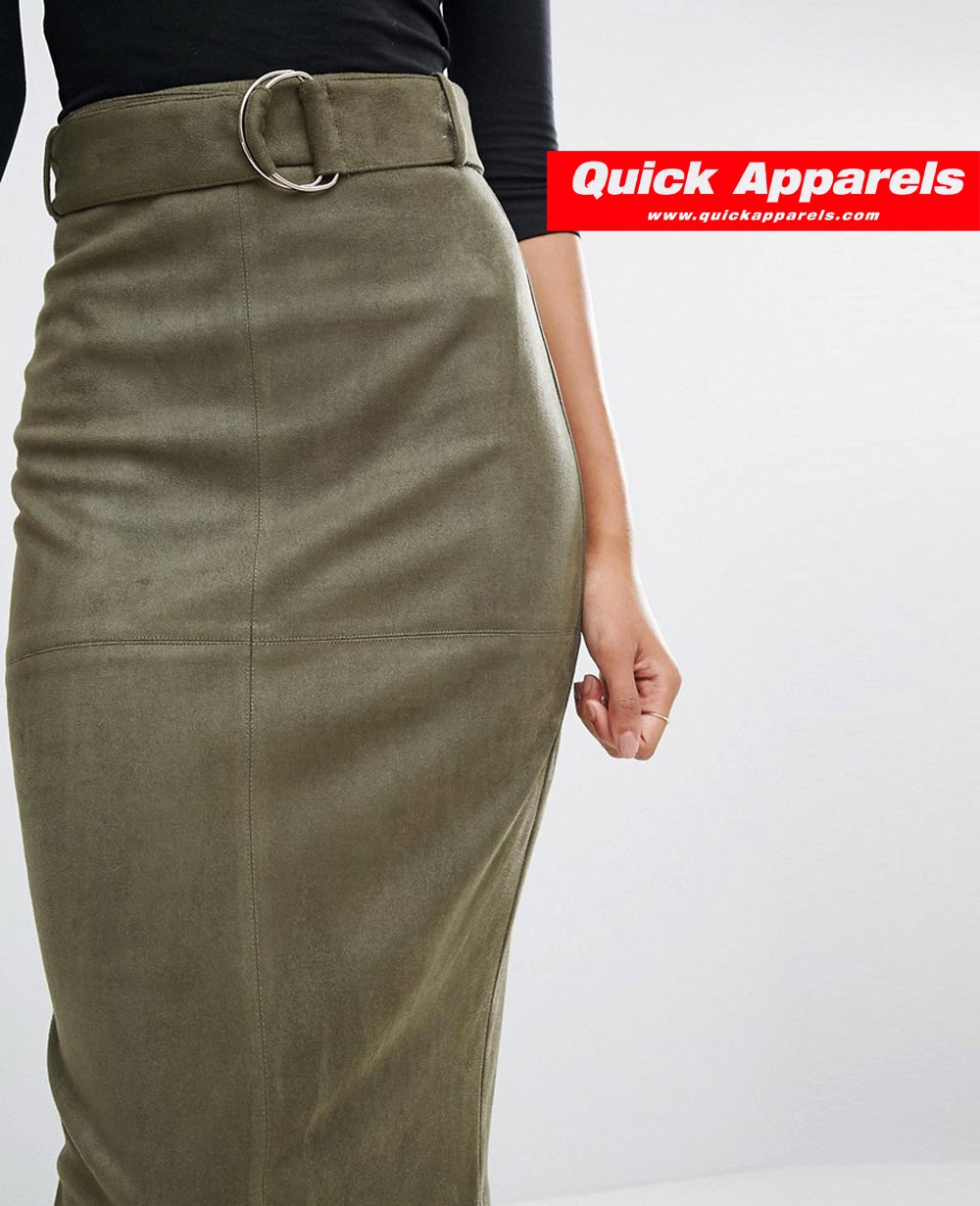 9c81f16729 Women Long Suedette Pencil Women Skirt