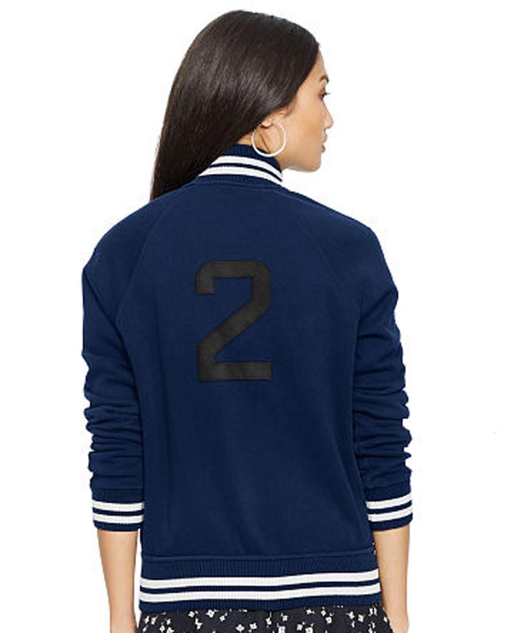 New Fashionable Women Zipper Varsity Jacket