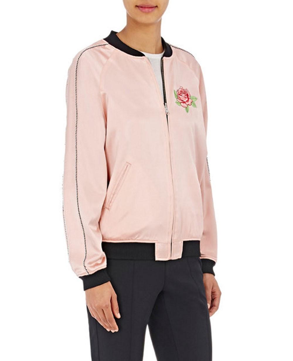 Women Zipper Reversible Varsity Jacket