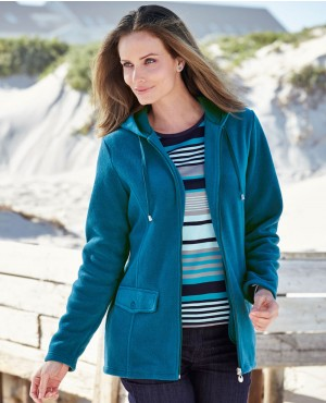 Women Sleeveless Black Zip Up Fleece Jacket