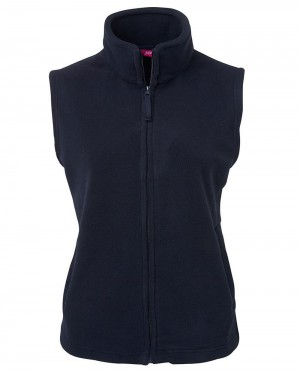 Zip Up Sleeveless Fleece Jacket
