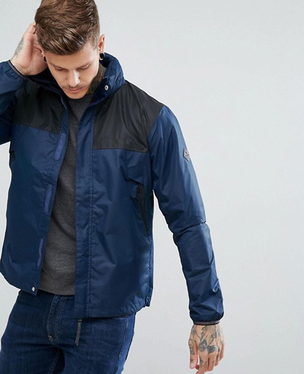 Men Custom High quality Windbreaker in Navy Jacket