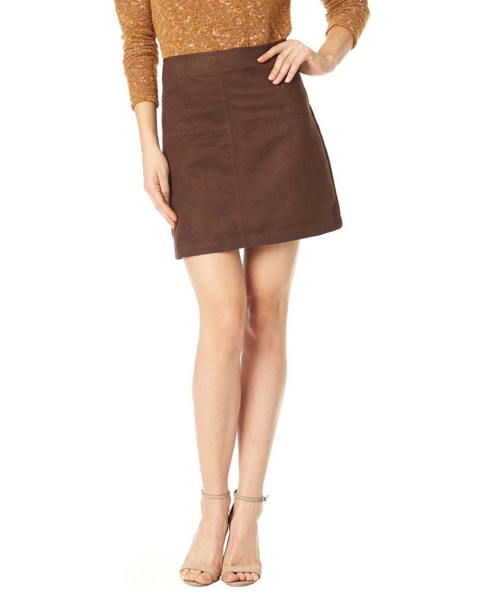 42bbf6d8e New Look Easy Mod Faux Suede Leather Skirt