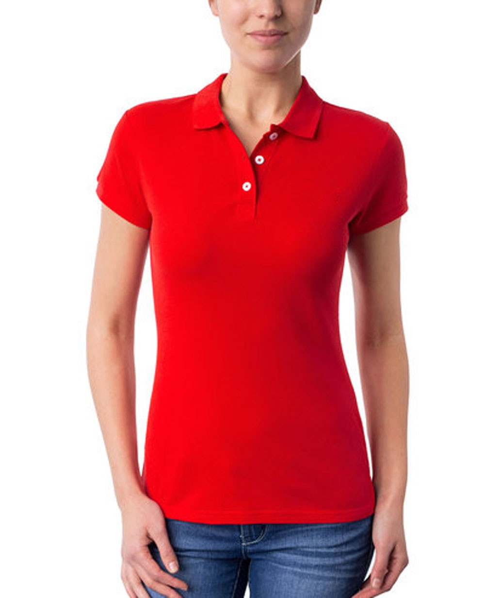 Women New Look Red Polo Shirt