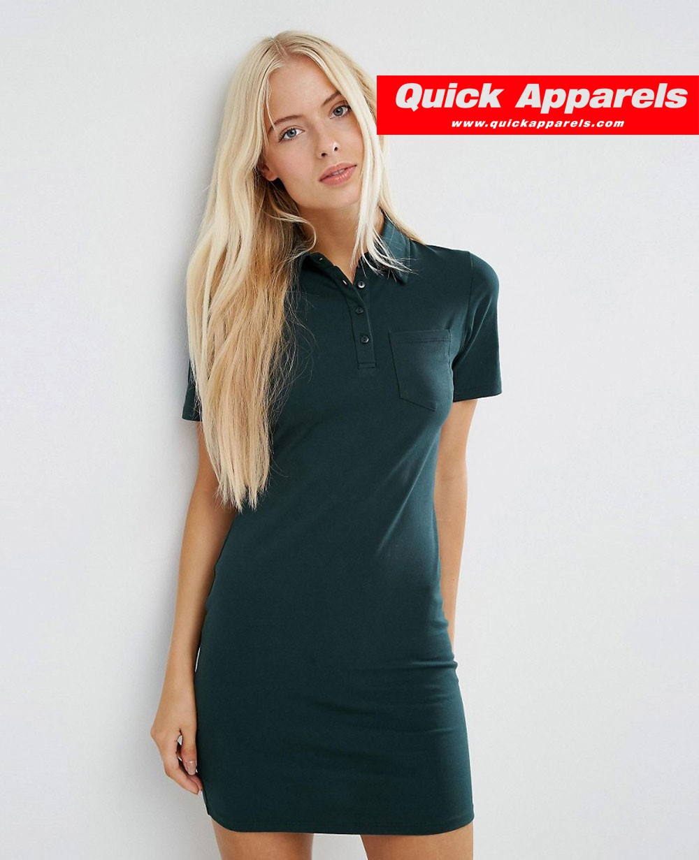 Women Polo Shirt Dress