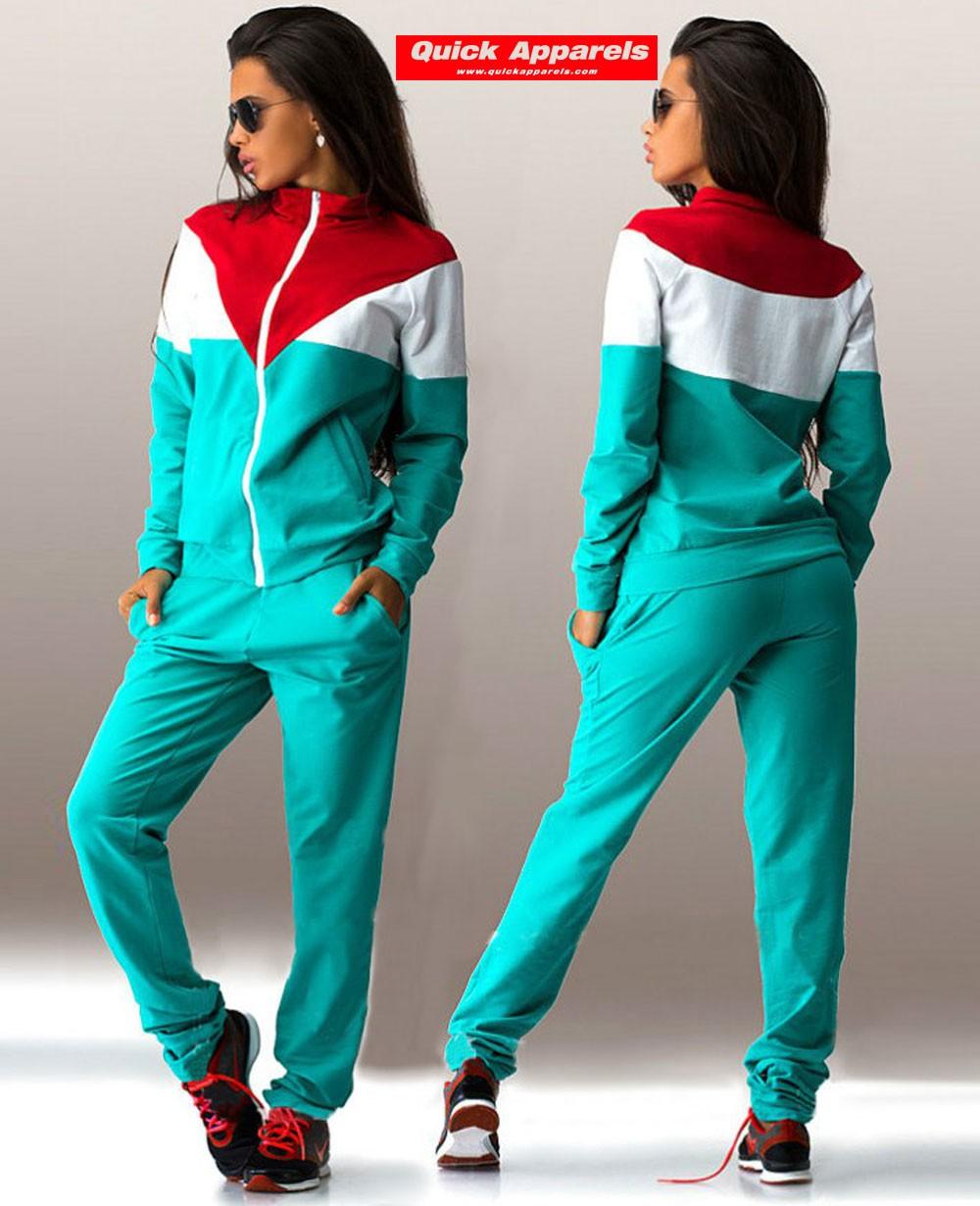 Women S Athletic Zipper Hoodie Joggers 2 Piece Sweatsuit Set