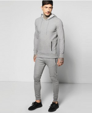 a07d497da36e Customizable Skinny Fit Ribbed Over the Head Tracksuit ...