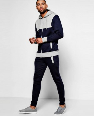 e61128302242 Hot Selling Skinny Fit Colour Block Tracksuits ...