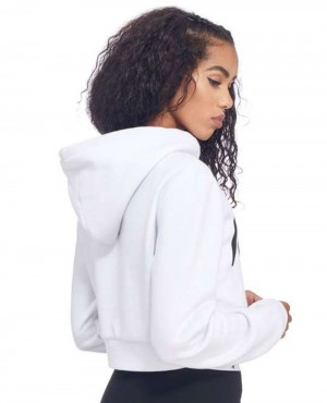 de70254a6263bc Hype Script Crop Women Hoody Ultimate-Oversized-Pullover-Hoodie -in-Half-White