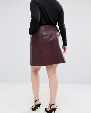 16af948b7 ... New-Look-Easy-Mod-Faux-Suede-Leather-Skirt